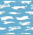 seamless clouds in sky pattern vector image vector image