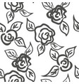 seamless patern graphic roses on a background vector image vector image