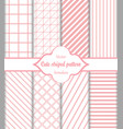 seamless striped pattern set vector image