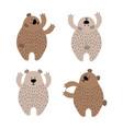 set cute brown bears vector image vector image