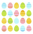 set of colored isolated easter eggs on a white vector image vector image