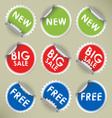 Set of colored round stickers vector image