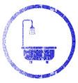 shower bath grunge textured icon vector image