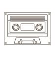 silhouette cassette design icon vector image vector image