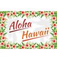 slogan aloha hawaii jungle frame vector image