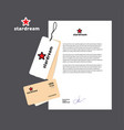 small corporate identity template set vector image vector image