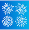 snowflakes icons set of different shape and forms vector image vector image