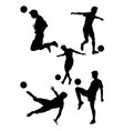 soccer player silhouette 02 vector image
