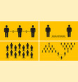 social distance people to protect against spread vector image vector image