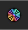 target logo trendy bright gradient diverging vector image