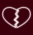 The image of a broken heart