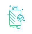 travel bag icon design vector image