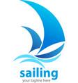 two sailboats sailing at the ocean vector image vector image