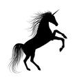 Unicorn Silhouette vector image