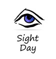 world sight day concept vector image