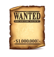 wintage wanted poster isolated vector image