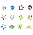 12 colorful symbols set 4 vector image
