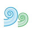 a view water wave vector image vector image