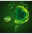 abstract green background with shiny bubbles vector image vector image