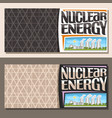banners for nuclear energy vector image