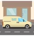 Beige delivery Van vector image vector image
