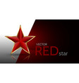 bright red 3d star vector image vector image