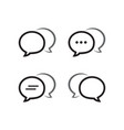 bubble chat outline icon pack vector image vector image
