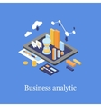 Business concept 3d isometric infographic data vector image