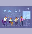 business conference in flat vector image
