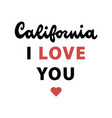 california retro lettering vector image