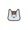 cat animal logo icon design vector image vector image