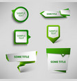 Collection green web pointers design template vector image vector image