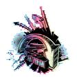 colorful 3d arrows vector image vector image