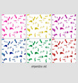 colorful confetti on a white background vector image