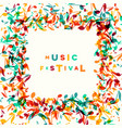 colorful music festival notes background vector image