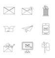 Communication icons set outline style vector image vector image