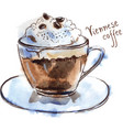 cup of viennese coffee vector image vector image