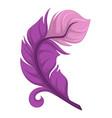 curly avian plumage purple soft plumelet bird vector image vector image