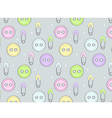Cute button background vector image vector image