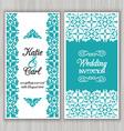 Decorative wedding invitation vector image vector image
