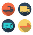 delivery car icon set vector image