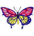 drawn butterflies watercolor vector image vector image