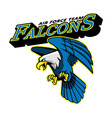 Falcons Air Force Team Mascot vector image vector image
