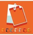 Flat design clipboard vector image