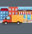 flat of delivery service for store vector image vector image