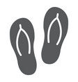 flip flops glyph icon travel and tourism beach vector image vector image