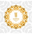 Floral Luxurious Logo Monogram Golden on White vector image vector image