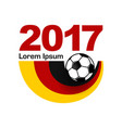 germany football sport emblem vector image