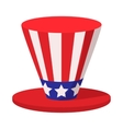 hat in usa flag colors cartoon icon vector image vector image
