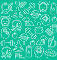 healthy lifestyle concept seamless pattern in line vector image